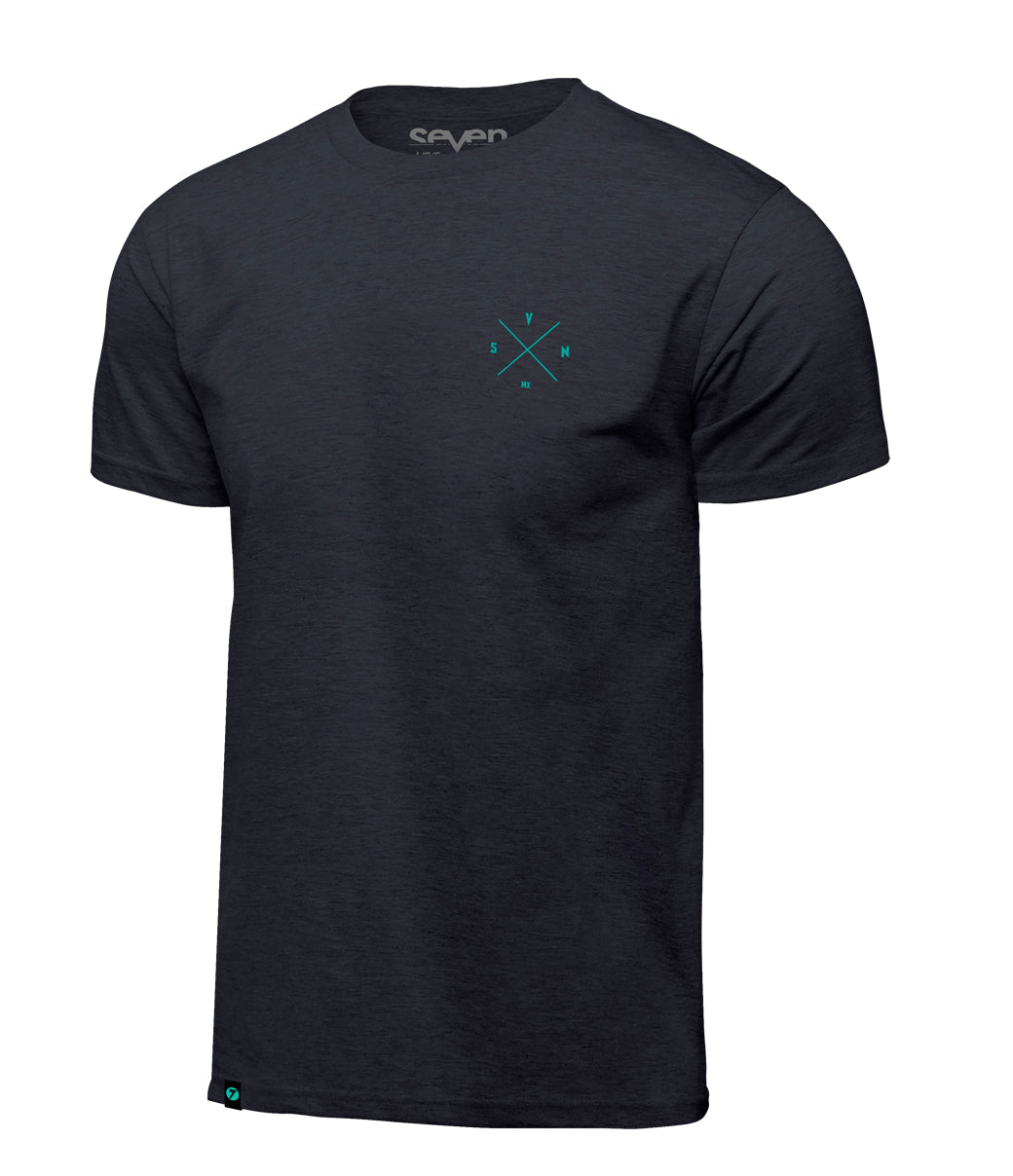 BENCHMARK TEE CHARCOAL HEATHER