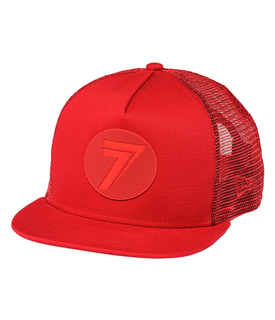 Youth Dot Hat - Red/Red