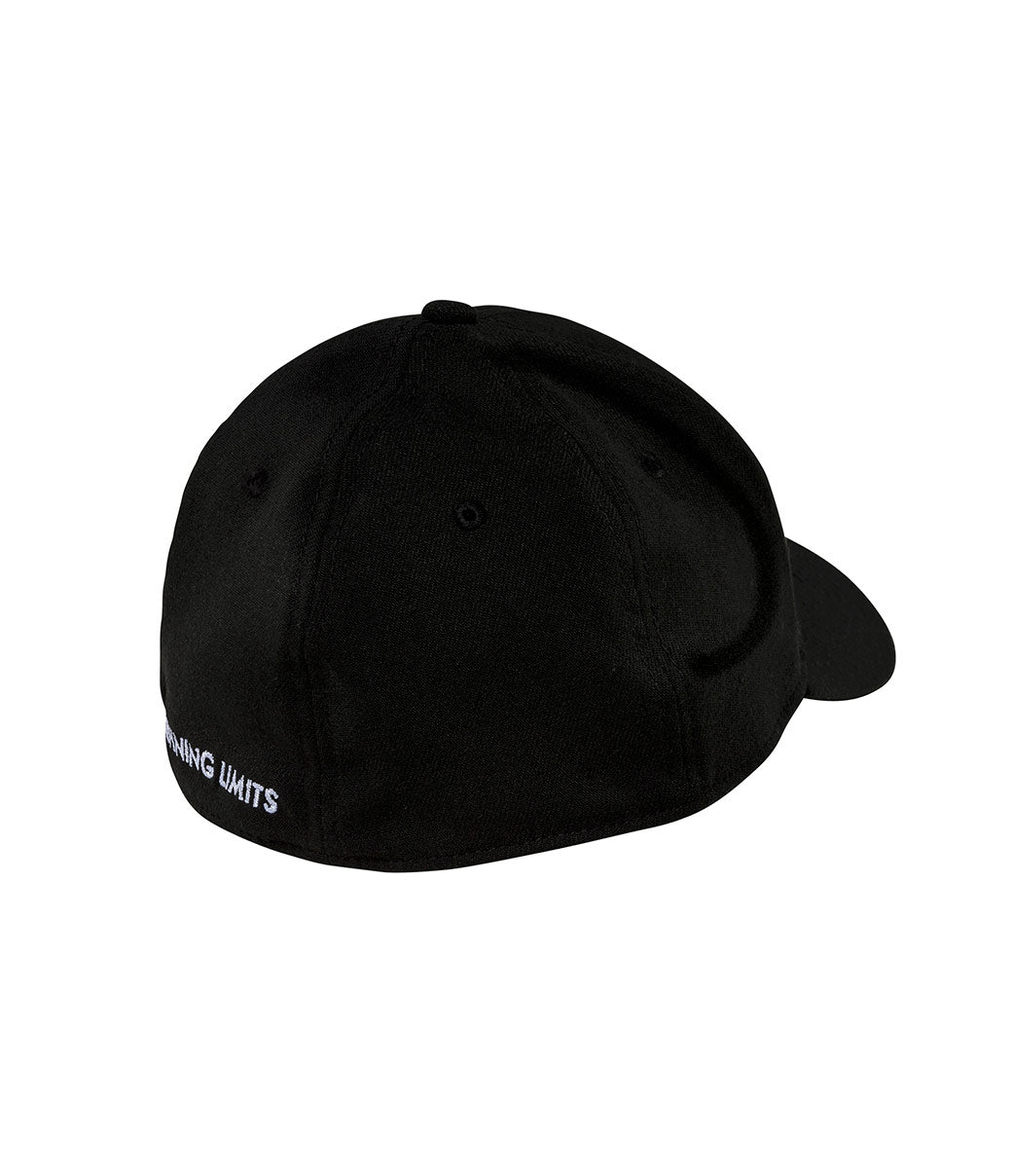 Dot Stretch-Fit Hat - Black/White