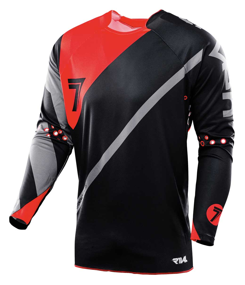 Rival Fuse Jersey Black/Red