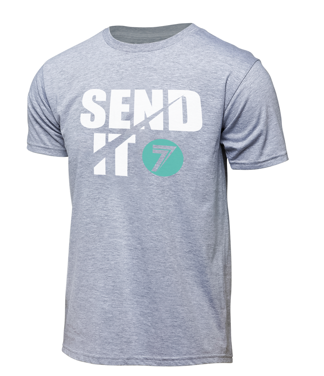 Youth Send-It Tee - Heather Gray
