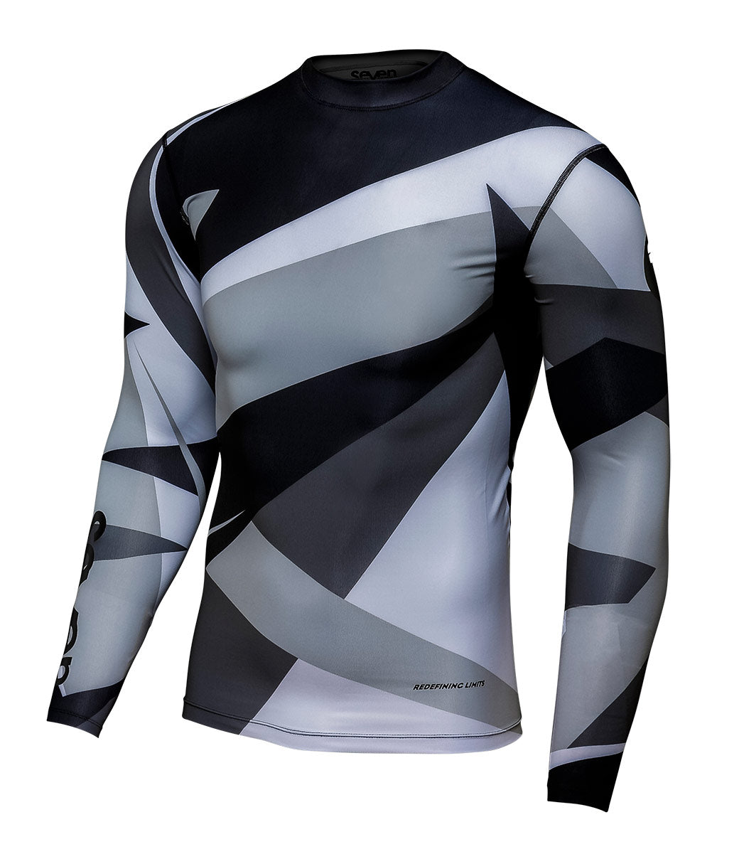 Youth Zero Battleship Compression Jersey - Gray/Black