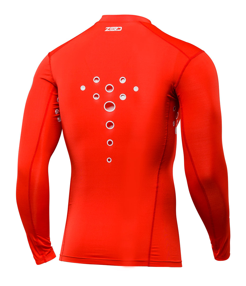 Zero Laser Cut Compression Jersey - Red