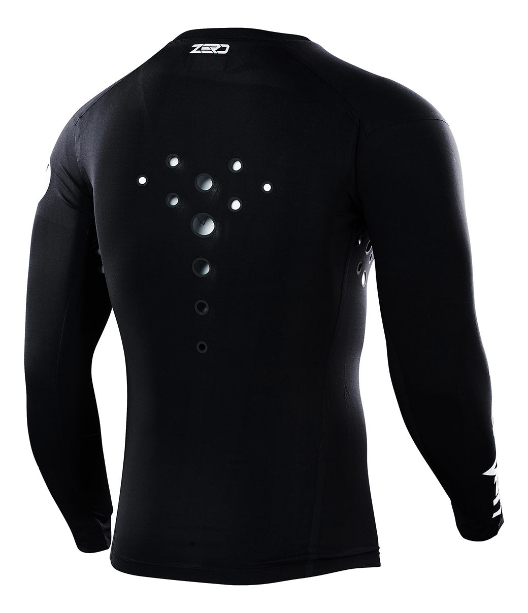 Zero Staple Laser Cut Compression Jersey - Black