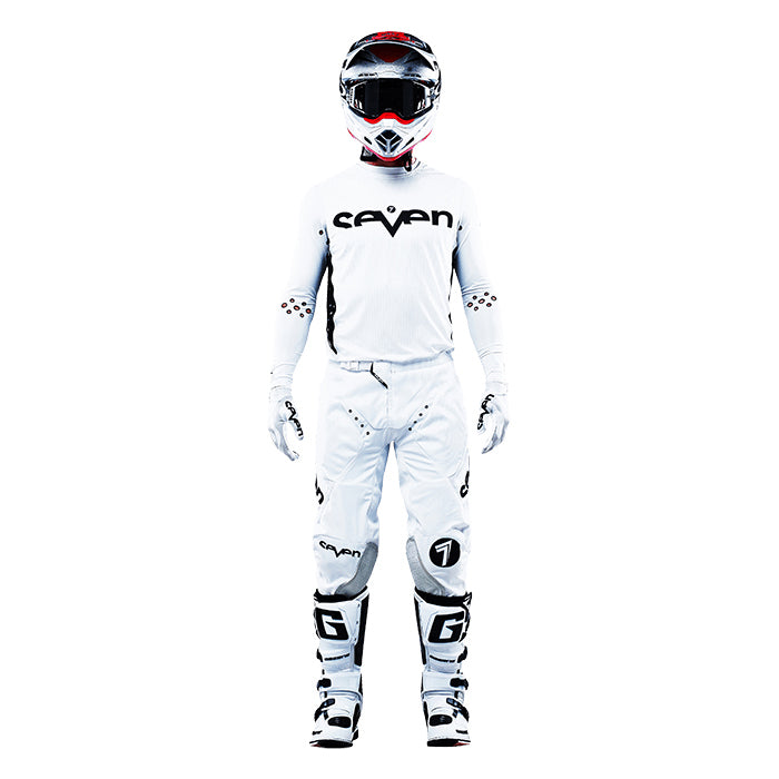 Zero Staple Laser Cut Compression Jersey - White