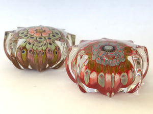 Pair of miniature Strathearn Paperweights