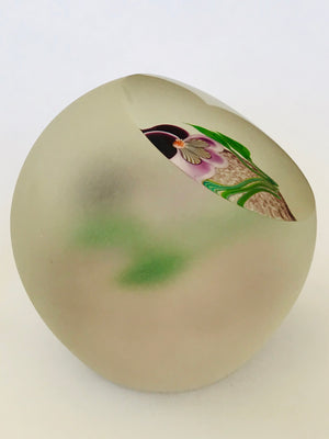Correia Glass Pansy Paperweight LE 57/100