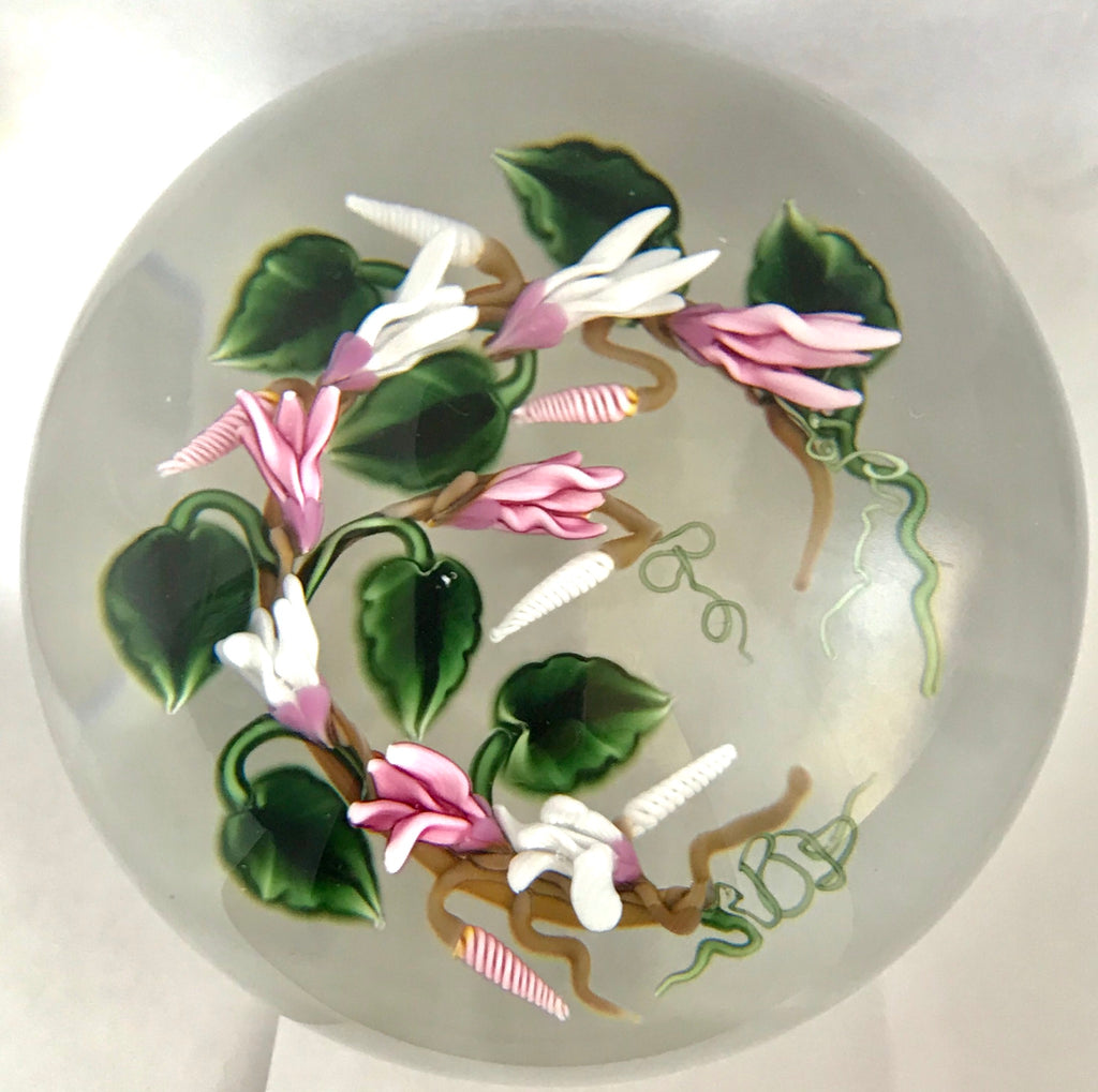 Richard Loesel Cyclamens Paperweight