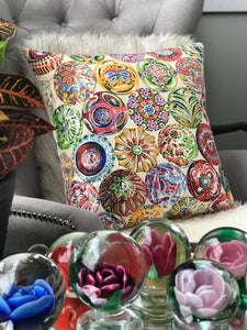 Vintage Paperweight design fabric pillow cover 19 by 19