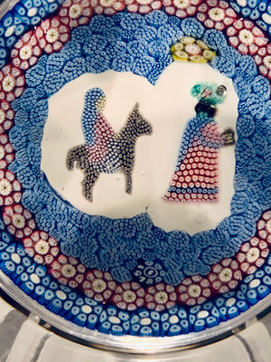 Whitefriars Christmas 4th in series Journey to Bethlehem Paperweight