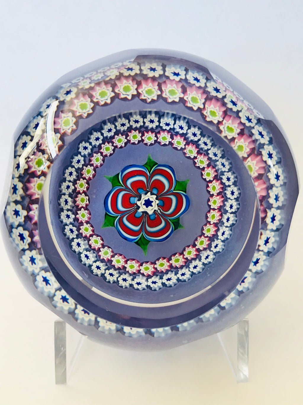 "Whitefriars Caithness ""Floriana"" Paperweight LE 86/250"