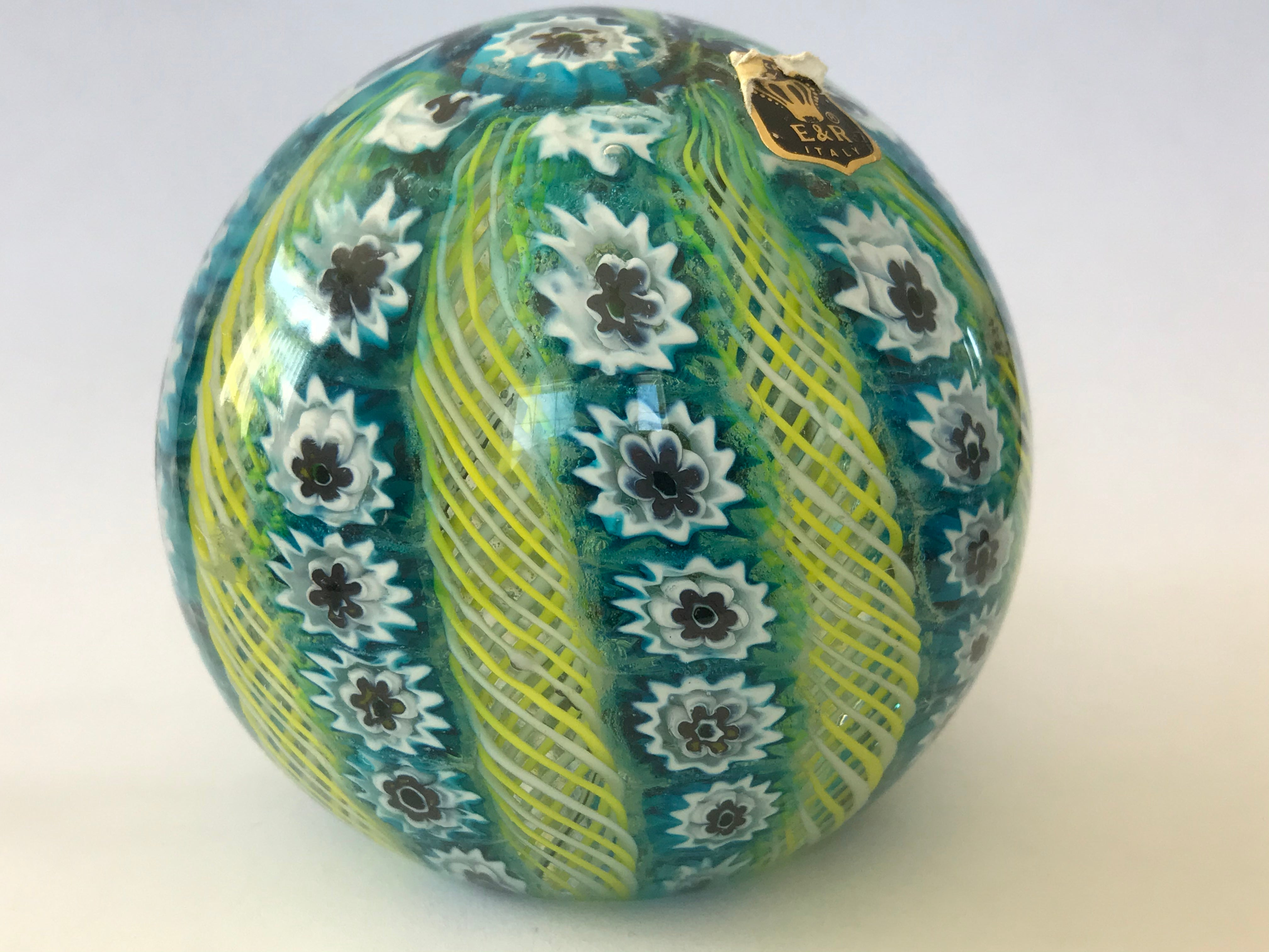 Murano E&R Crown Paperweight
