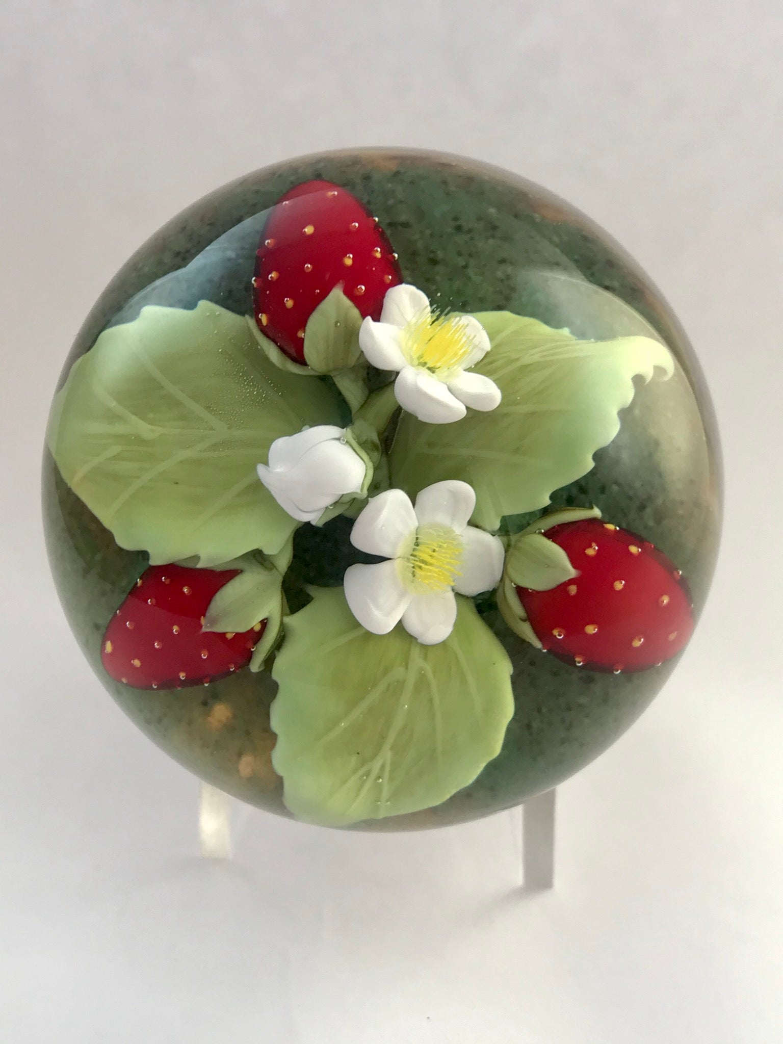 Clinton Smith strawberries paperweight