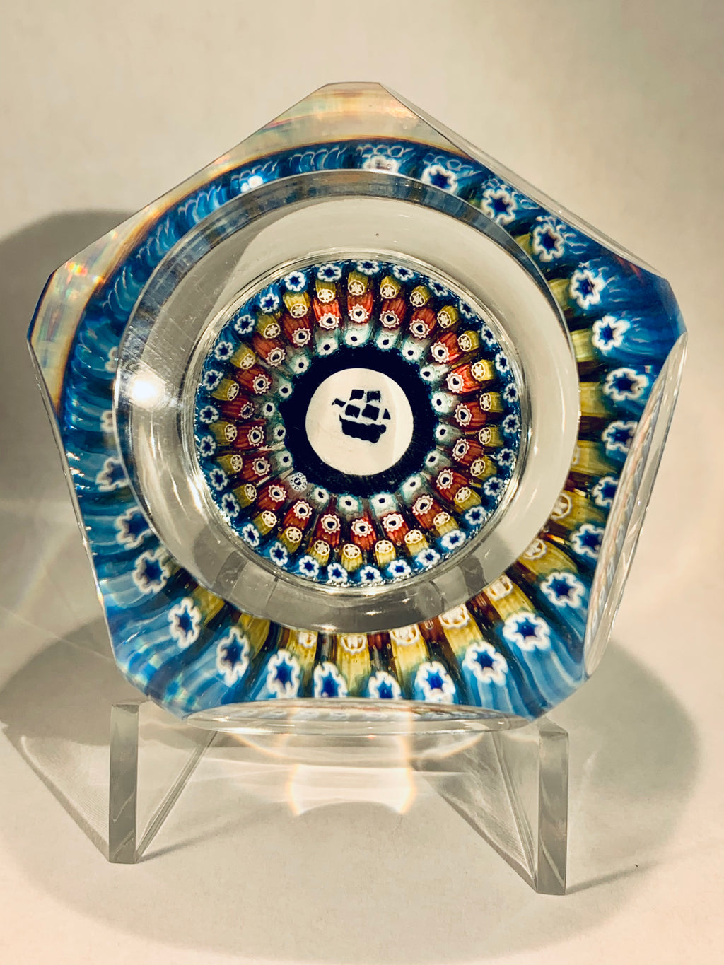 Whitefriars 1970 Mayflower Millefiori Paperweight