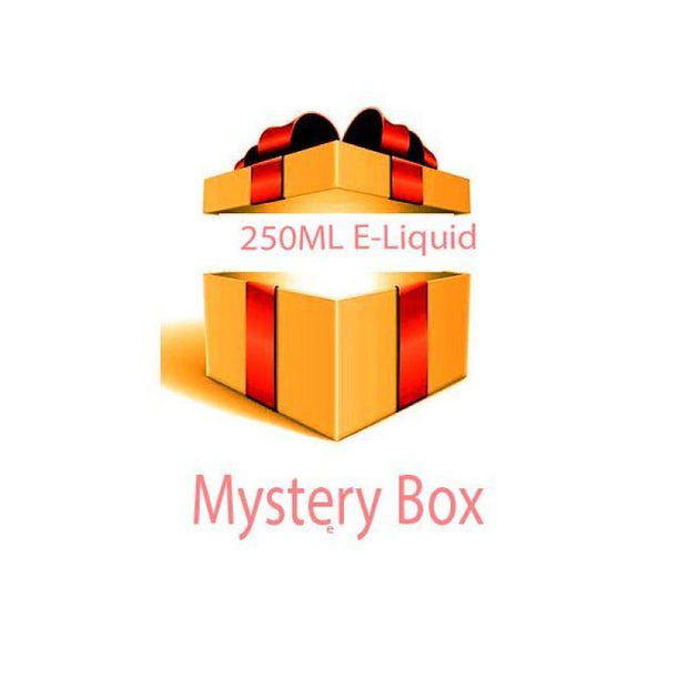 250ml E-liquid MYSTERY BOX + Nic Shots - Vaping Products
