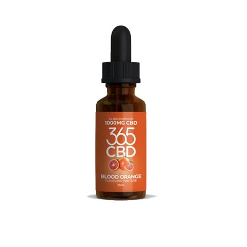 365 CBD Flavoured Tincture Oil 1000mg CBD 30ml - Blood