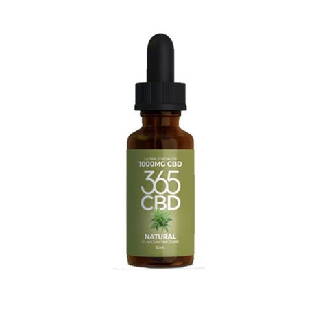 365 CBD Flavoured Tincture Oil 1000mg CBD 30ml - CBD
