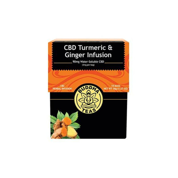 Buddha Teas CBD Turmeric Ginger Tea Bags 5mg - CBD Products