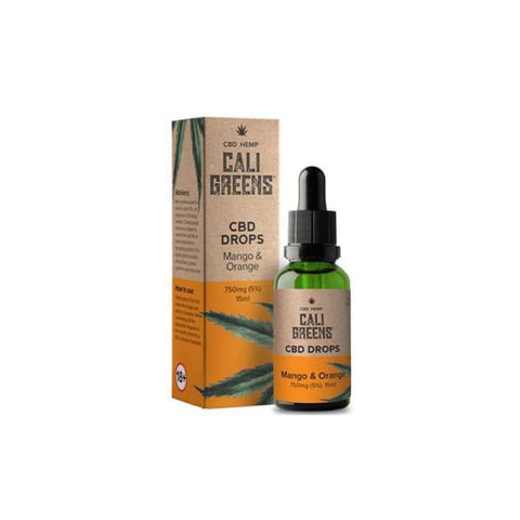 Cali Greens 1500mg CBD Oral Drops 15ml - Mango & Orange -