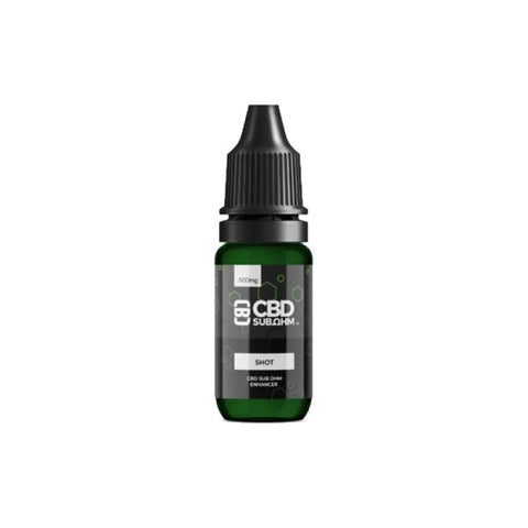 CBD Asylum 500mg CBD E-liquid Unflavoured Shot 10ml - CBD