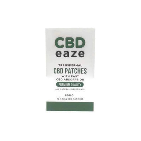 CBD Eaze Trans Dermal 80mg CBD Patches - CBD Products