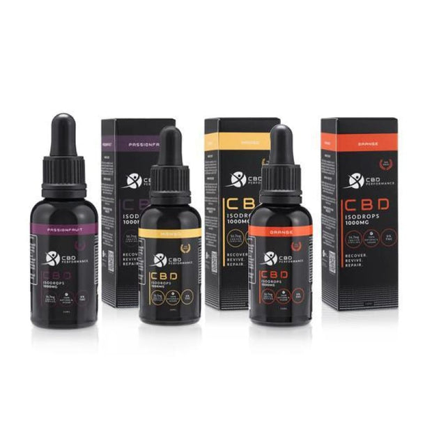 CBD Performance 1000mg CBD Isodrops supplement 30ml - CBD