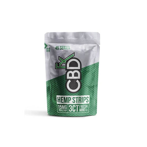 CBDFX 45mg CBD Sublingual Strips - Fresh Mint - CBD Products