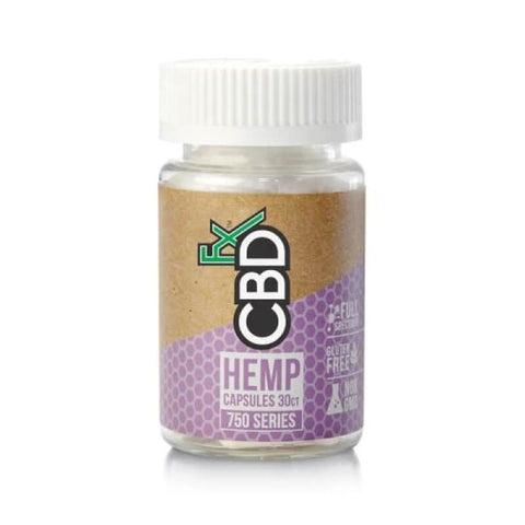 CBDFx 750mg CBD Hemp Capsules 30ct - CBD Products