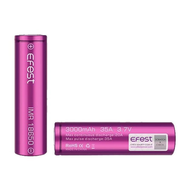 Efest 18650 3000mAh 35A Battery - Vaping Products