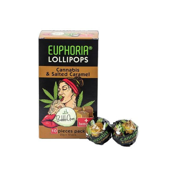 Euphoria Cannabis Lollipops - Cannabis & Salted Caramel -