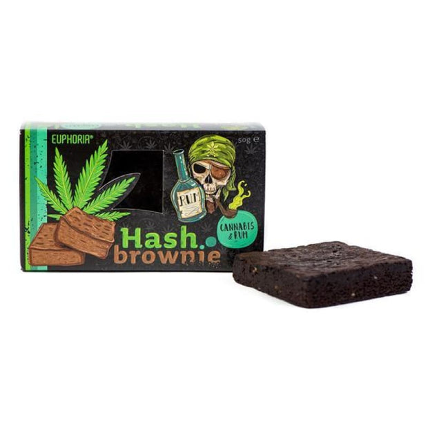 Euphoria Hash Brownie Cannabis & Rum - CBD Products