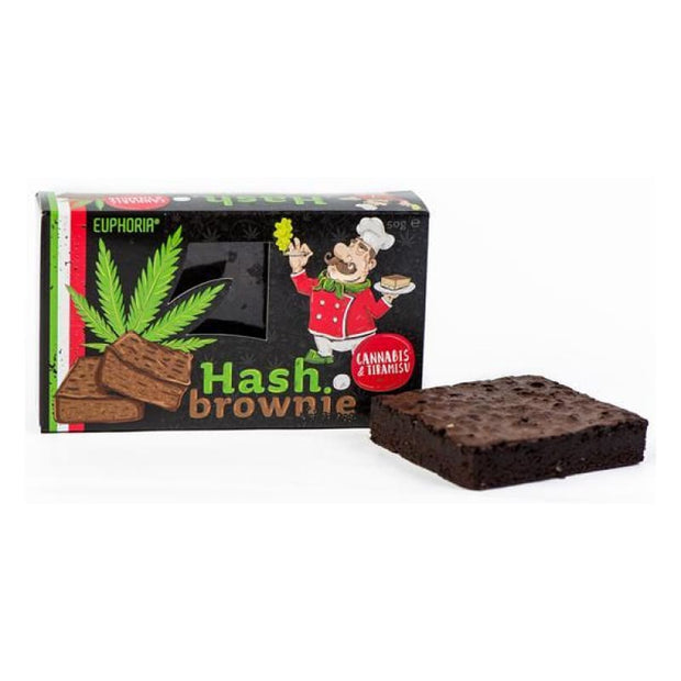 Euphoria Hash Brownie Cannabis & Tiramisu - CBD Products