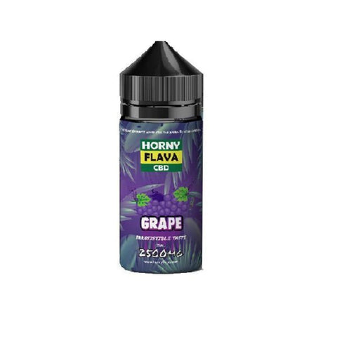 Horny Flava 2500mg CBD 120ml Shortfill E-Liquid - Grape -