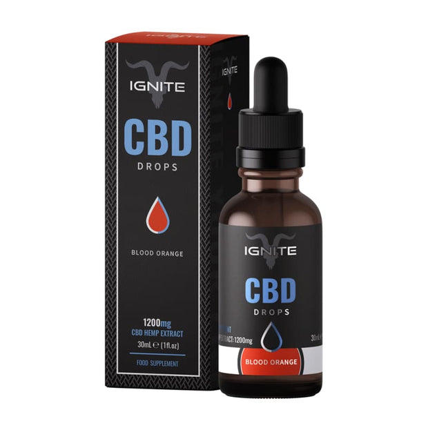 Ignite CBD Drops 30ml - Blood Orange - 1200mg - CBD Liquids