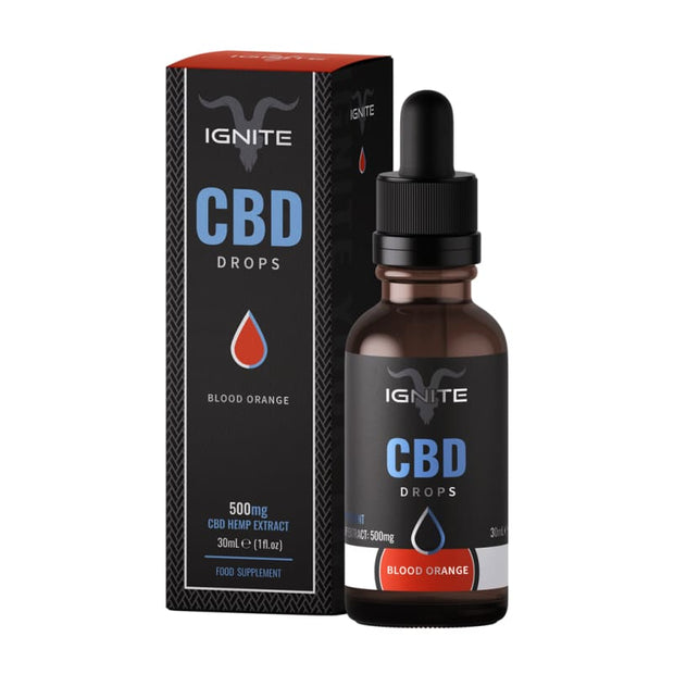 Ignite CBD Drops 30ml - Blood Orange - 500mg - CBD Liquids