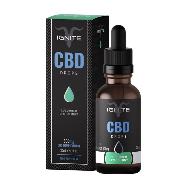 Ignite CBD Drops 30ml - Cucumber Lemon Mint - 500mg - CBD
