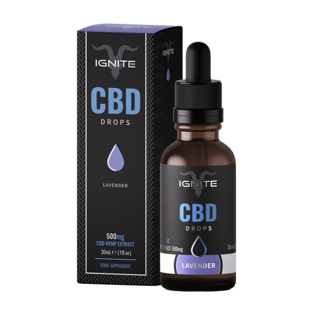 Ignite CBD Drops 30ml - Lavender - 500mg - CBD Liquids