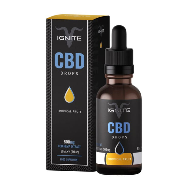 Ignite CBD Drops 30ml - Tropical Fruit - 500mg - CBD Liquids