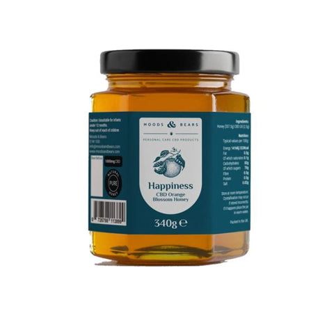 Moods and Bears 1000mg CBD Natural Pure Honey 340g -