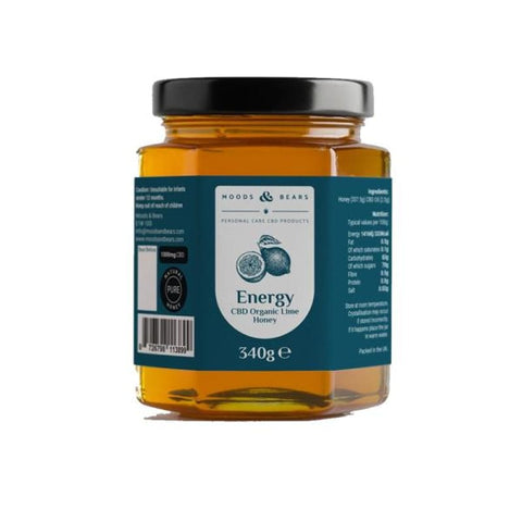 Moods and Bears 1000mg CBD Natural Pure Honey 340g - CBD