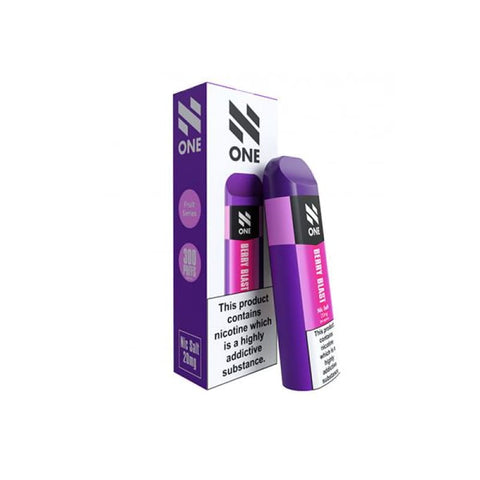 N One Disposable 20MG Nic Salt Vape Pod - Berry Blast -