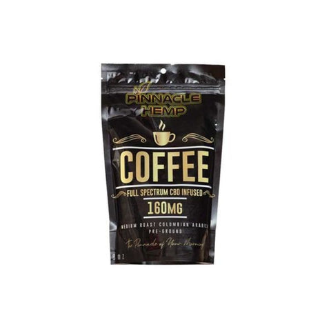 Pinnacle CBD Ground Coffee 160mg – 8oz - CBD Products