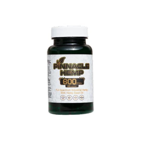 Pinnacle Hemp CBD Capsules 60CT 600mg CBD - CBD Products
