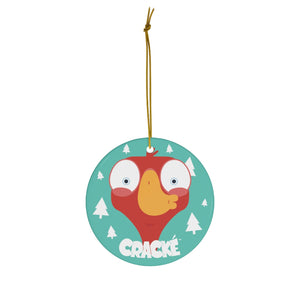 Cracké Holidays Kiss EDmoji Ceramic Ornament