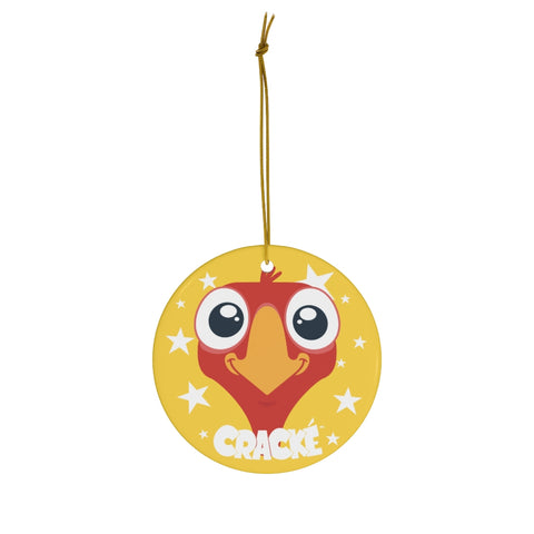 Cracké Holidays Smiling EDmoji Ceramic Ornament