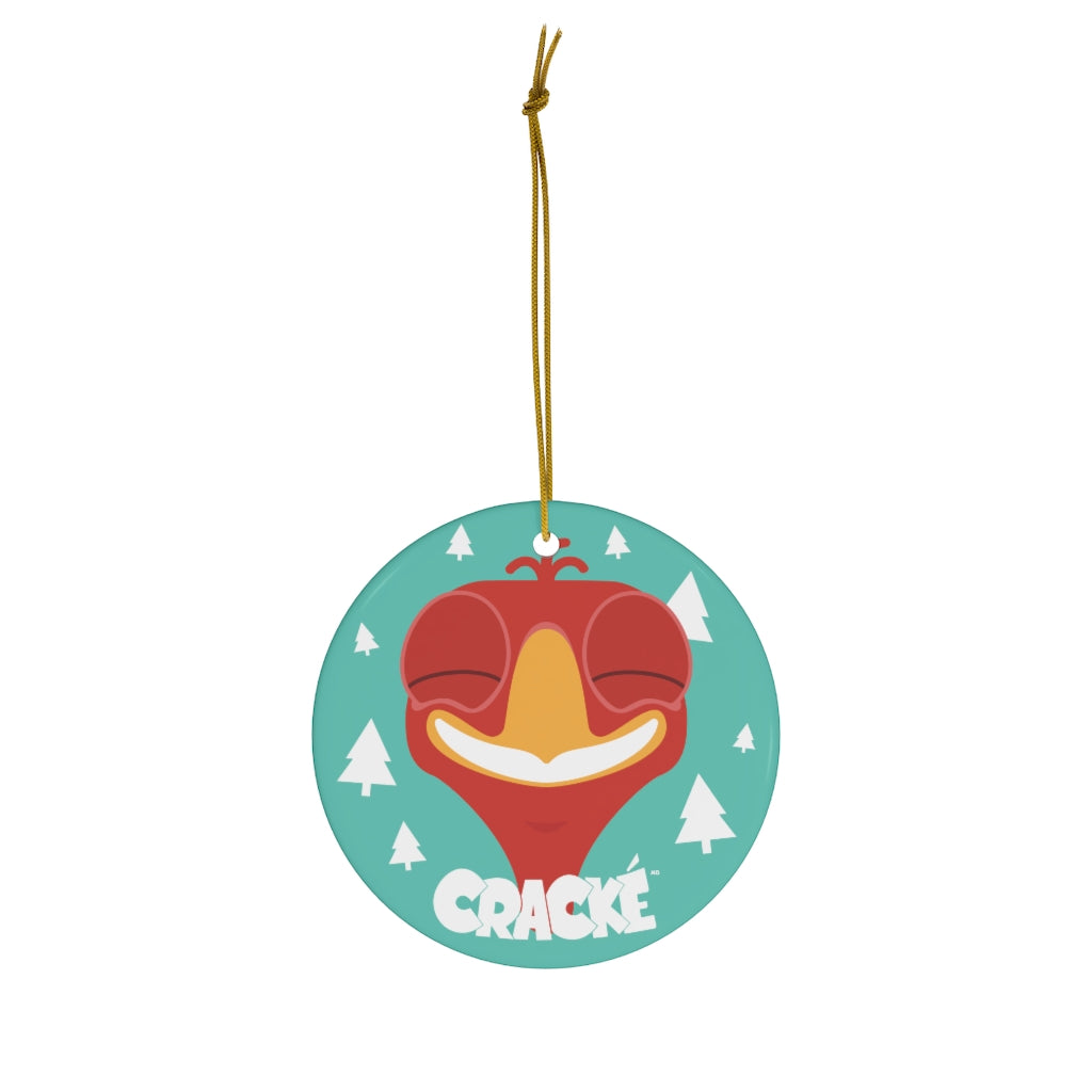 Cracké Holidays Cheerful EDmoji Ceramic Ornament