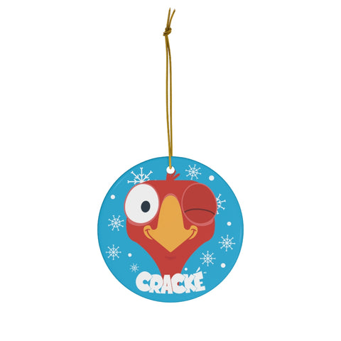 Cracké Holidays Wink EDmoji Ceramic Ornament