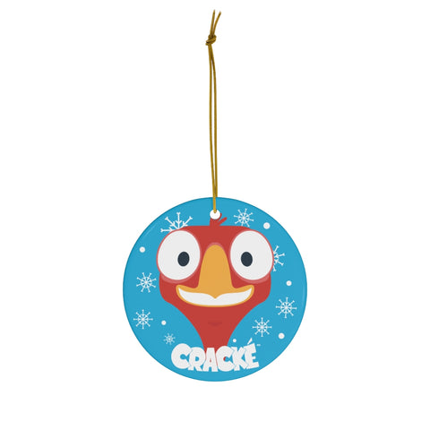 Cracké Holidays Happy EDmoji Ceramic Ornament