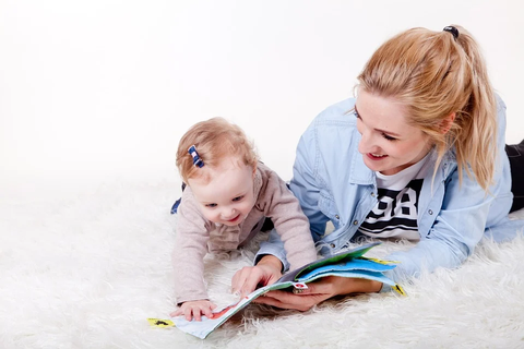 baby playing reading games