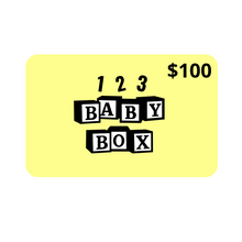 Load image into Gallery viewer, 123 Baby Box Gift Card Media $100